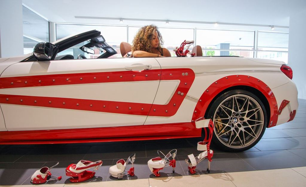 Meet Jayda Hany... the Egyptian Footwear designer who inspired BMW to customize M4 cars to match her shoes!