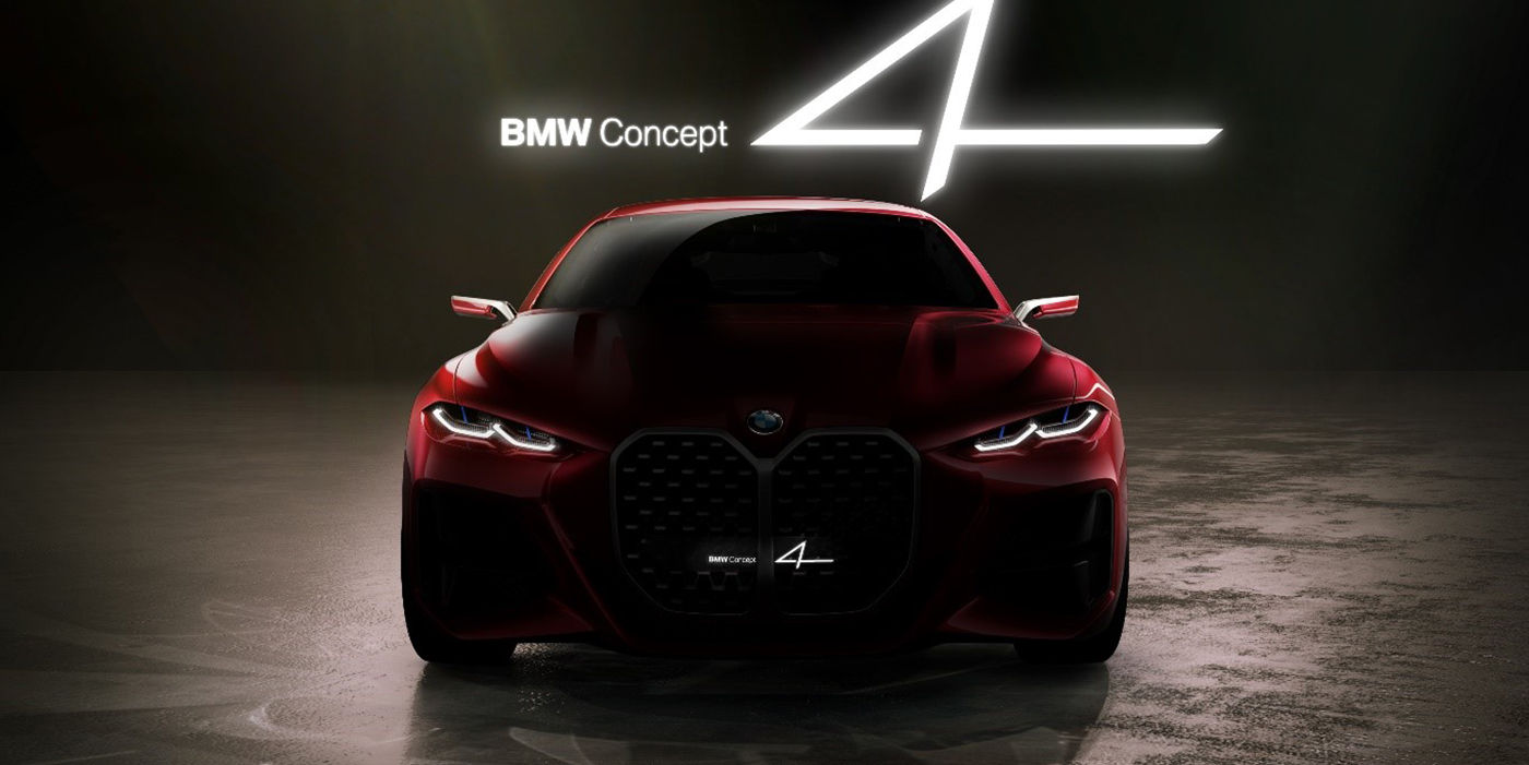 BMW Concept 4 with iconic vertical grille debuts at the 2019 Frankfurt Motor Show