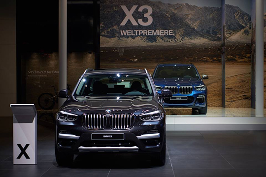 The all-new BMW X3 at IAA 2017.